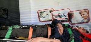 Yolun karşısına geçmek isterken aracın çaptığı vatandaş yaralandı