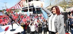 """Özlem Çerçioğlu; """"Aydın tarımını yeniden şaha kaldıracağız"""" Başkan Çerçioğlu, Nazilli'de temel attı"""