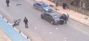 Çaycuma'da otomobil motosiklete çarptı; 1 kişi yaralı