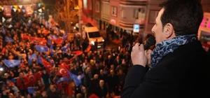 """Tok: """"Cedit Mahallesi kararını Cumhur İttifakı'ndan yana vermiş"""" Cedit SKM açılışı dev mitinge dönüştü"""