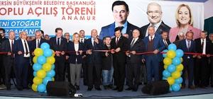 """Kocamaz, Anamur'da toplu açılış törenine katıldı Mersin Büyükşehir Belediye Başkanı Burhanettin Kocamaz: """"Millete hizmet yolunda sonuna kadar varız"""""""