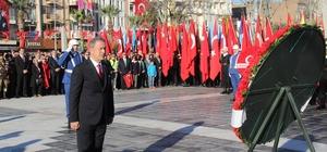 Çanakkale Deniz Zaferi'nin 104. yılı Cumhuriyet Meydanı'nda tören düzenlendi
