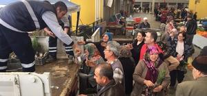Efeler Belediyesi vatandaşlara mazı fidanı dağıttı