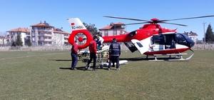 Hava ambulansı, Rabia teyze için havalandı