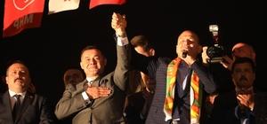 """Alanya'daki Cumhur İttifakı'nın seçim ofisi Bakan Soylu'nun katılımıyla açıldı Başkan Yücel:"""" 5 yılı hamdolsun alnımızın akıyla tamamladık"""" Sena Nur Çelik:"""" Burada bir kez daha Türkiye'nin geleceği için yan yana"""""""