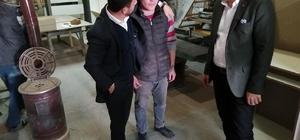 Seçen, AK Parti Belediye Başkan adayı Arı ile sanayi esnaflarını ziyaret etti