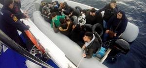 Düzensiz göçmenler Didim'i mesken tuttu Aydın'ın Didim ilçesinden Yunanistan adalarına geçemeye çalışan 22 Filistin uyruklu düzensiz göçmen Sahil Güvenlik ekiplerinin müdahalesi ile yakalandı.