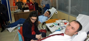 Mardin'de hakim ve savcılardan kan bağışı