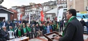 """Mustafa Dündar: """"Türkiye'nin en güçlü belediyesiyiz"""" Osmangazi'den Dağakça'ya kıskandıran hizmet Osmangazi Belediye Başkanı Dündar: """"Bir ayda yaptığımız açılışları bir yılda yapamayanlar var"""""""