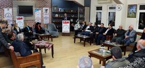 """İYİ Parti Adapazarı Belediye Başkan Adayı Arslan: """"Bu şehri bu halde bırakmaya içiniz acımıyor mu?"""" Başkan Adayı Aydoğan Arslan'a dernek ziyaretlerinde yoğun ilgi"""