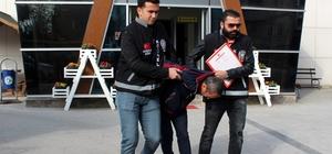 Mermer atölyesinden 8 bin TL'lik vurgun yapan hırsız tutuklandı