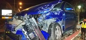 Samsun'da minibüs ile otomobil çarpıştı: 2 yaralı