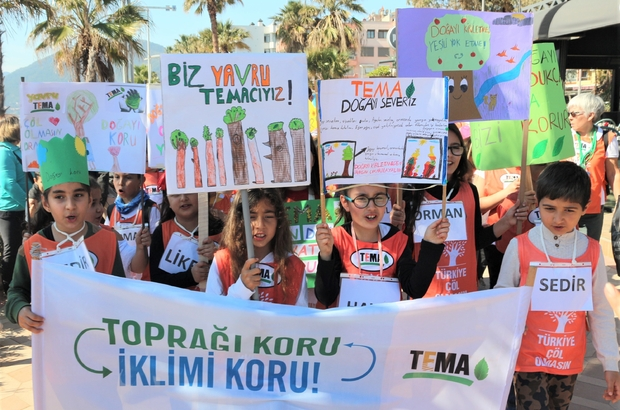 İlkokul öğrencileri Marmaris'te doğa için yürüdü ile ilgili görsel sonucu