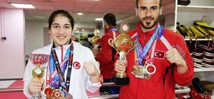 Kick boksta Diyarbakır'ın gururu oldular Dilek ve Bilgin Erol kardeşlerin hedefi Bosna'da Türkiye'yi başarıyla temsil etmek