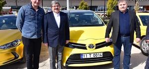 """Bilecik'te taksiler artık T plaka oldu Belediye Başkanı Nihat Can; """"Tek Tip Taksi Durakları projemizi kışa girmeden hayata geçireceğiz"""""""