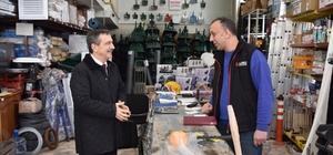 Başkan Ataç'ın esnaf ziyaretleri sürüyor
