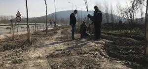 Vezirhan'da durak çalışmaları başladı