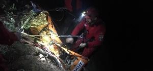 Mantar arayan 74 yaşındaki adam 70 metrelik uçurumdan aşağı düştü Yaralı vatandaş 2 buçuk saat sonra kurtarıldı