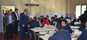 Başkan Çerçi OSB'deki işçilerle buluştu