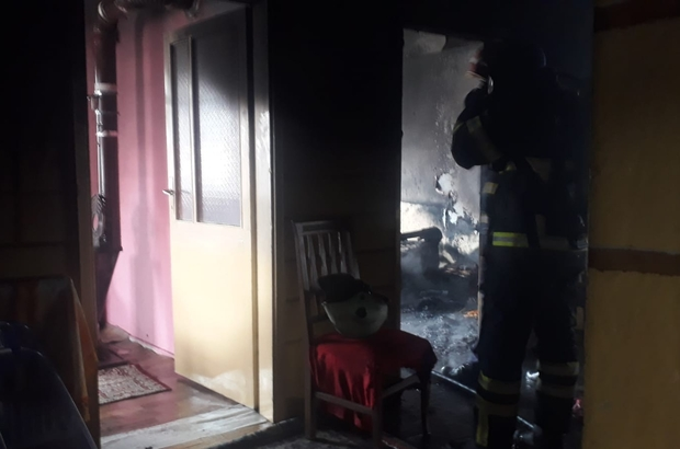 Ülkelerine dönmek için hazırlık yapan Suriyeli ailenin evi yandı