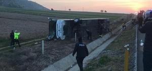 Denizli'de otobüs kazası: 2 ölü, 20'ye yakın yaralı Kazada ölü ve yaralı sayısının artmasından korkuluyor