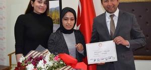 Başkan Bilal Demirci mazbatasını aldı