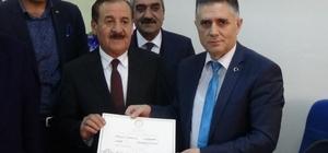 Hasköy Belediye Başkanı Karayel Mazbatasını aldı