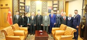 İlk ziyaret Bahçeli'ye Başkan Esen'den MHP Genel Başkanı Devlet Bahçeli'ye ziyaret