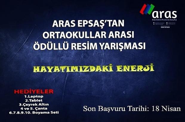 """Aras EPSAŞ'dan """"Hayatımızdaki Enerji"""" resim yarışmasına davet"""