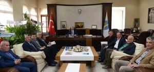 İlçe Belediye Başkanları Aşgın'ı ziyaret etti