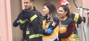9 katlı binanın çatısına çıkan çocuk ekipleri seferber etti İtfaiye eri, çatıdan indirdiği çocuğa üşümesin diye bere ve montunu giydirdi