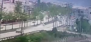 Bursa'daki feci kaza güvenlik kamerasına yansıdı
