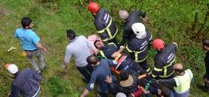 İnşaat işçilerini taşıyan minibüs fındık bahçesine uçtu: 7 yaralı