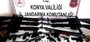 Konya'da Jandarmadan silah operasyonu