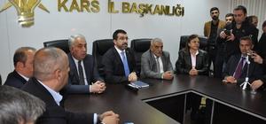 """AK Parti Kars İl Başkanlığı'nda değerlendirme toplantısı yapıldı Adem Çalkın, """"Kars'ta yapılan seçime saygı duyuyoruz"""""""