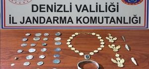Roma dönemine ait bronz takı seti ele geçirildi Jandarmadan tarihi eser operasyonu: 38 parça eser ele geçirildi