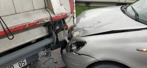 Samsun'da zincirleme trafik kazası: 1 yaralı