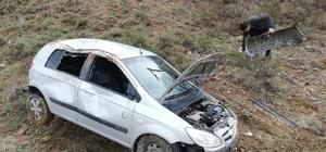 Otomobil şarampole uçtu : 1 yaralı