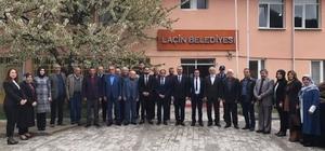 """Ahlatcı'dan Laçin, Dodurga ve Oğuzlar'a ziyaret Yeni seçilen belediye başkanlarını kutlayan AK Parti Çorum İl Başkanı Yusuf Ahlatcı; """"Milletimize hizmetkar olmaya devam edeceğiz"""""""
