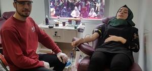 Bilim Fuarında  kan bağışı yapıldı