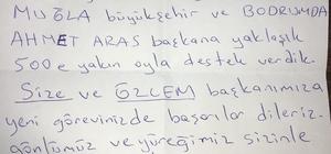 Başkan Atay'ı duygulandıran mektup Başkan Atay, Dalama Yeniköy Mahallesini ziyaret etti