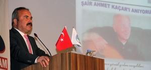 Şair Ahmet Kaçar'ın son güftesi bestelendi Şair Ahmet Kaçar'ın şiirlerinin okunup şarkılarının seslendirildiği programda  ölümünden kısa bir süre önce yazdığı ve üzerinde beste çalışması yaptığı son güftesi de seslendirildi