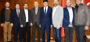 İnşaat mühendislerinden Başkan Özcan'a ziyaret