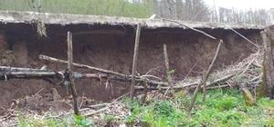 Ordu'da heyelan soncu yollar göçtü, bahçeler zarar gördü Korgan ilçesinde bazı yollar uçtu, fındık bahçeleri ve tarlalar hasar gördü