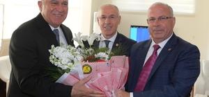 Türk-İş İl Temsilcisi  Aydın'dan Başkan Atay'a tebrik ziyareti