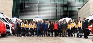 Denizli'de 112 Acil serviste ambulans sayısı 112'ye yükseldi Denizli'ye 7 yeni ambulans