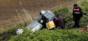 Kahramanmaraş'ta hafif ticari araç şarampole yuvarlandı: 4 yaralı