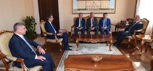 Enver Aputkan, Vali Karaloğlu'nu ziyaret etti