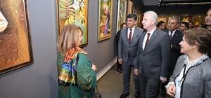 """""""Hanım Eller"""" resim sergisi ŞSM'de açıldı 110 eser, 28 Nisan tarihine kadar sergilenecek"""