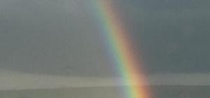 Yavuzeliler, gökkuşağının keyfini çıkardı